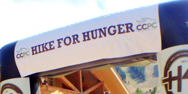 The finishing line at Christian Center of Park City's Hike for Hunger