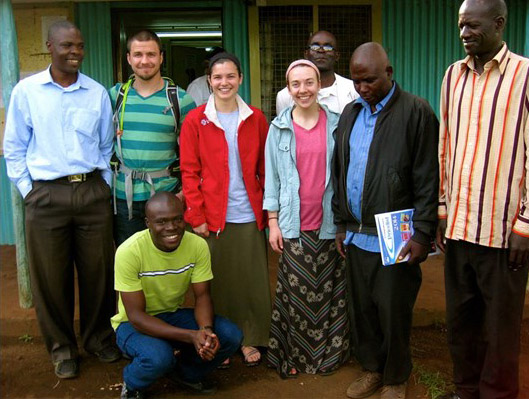 mi2 interns with Kibera pastors